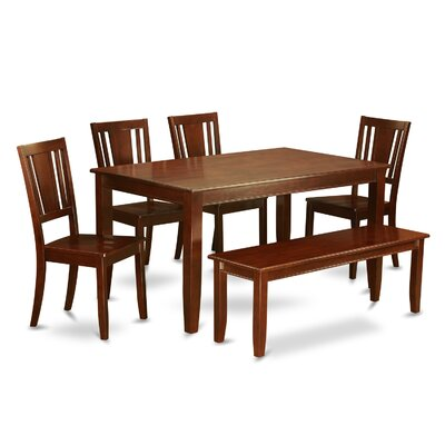 Dudley 6 Piece Dining Set Finish: Mahogany, Chair Upholstery: Non-Upholstered Wood