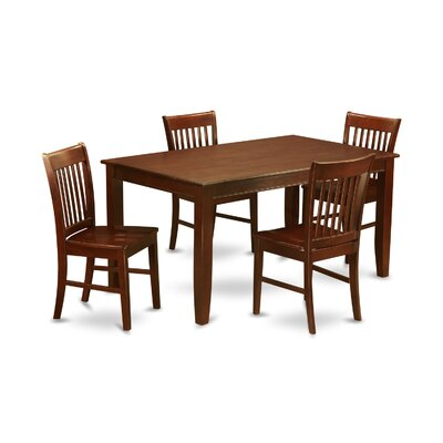 Dudley 5 Piece Dining Set Chair Upholstery: Non-Upholstered Wood