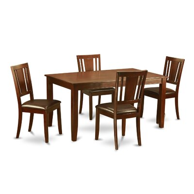 Dudley 5 Piece Dining Set Finish: Mahogany