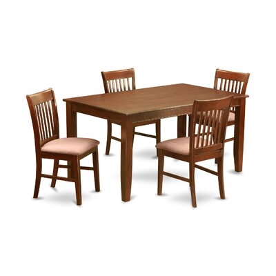 Dudley 5 Piece Dining Set Chair Upholstery: Microfiber