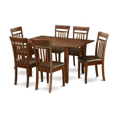 Picasso 7 Piece Dining Set Chair Upholstery: Faux Leather