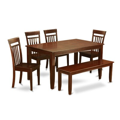 Dudley 6 Piece Dining Set Chair Upholstery: Non-Upholstered Wood