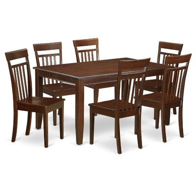 Dudley 7 Piece Dining Set Chair Upholstery: Non-Upholstered Wood