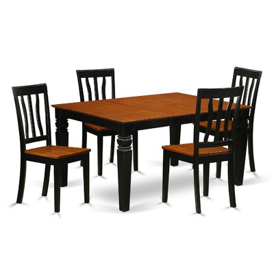 Arehart  5 Piece Dining Set Finish: Black