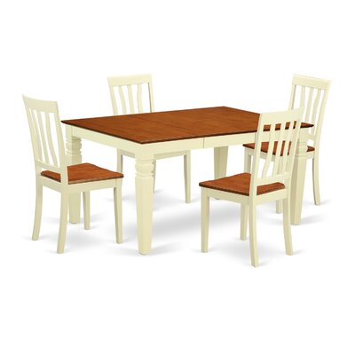 Arehart  5 Piece Dining Set Finish: White