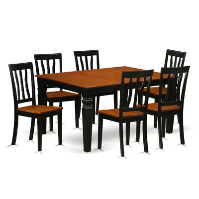 Arends 7 Piece Dining Set Finish: Black