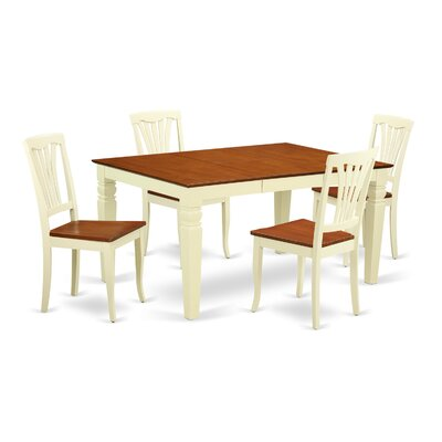 Arkin 5 Piece Dining Set Finish: White