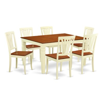 Arledge 7 Piece Dining Set Finish: Buttermilk