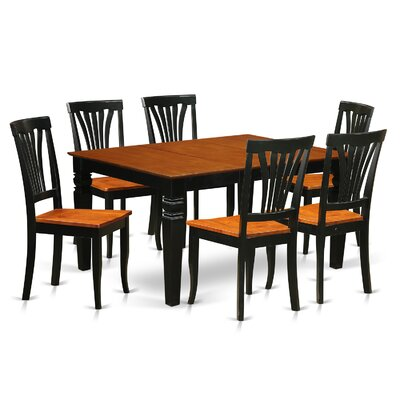 Arledge 7 Piece Dining Set Finish: Black