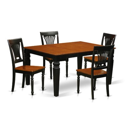 Armadillo 5 Piece Dining Set Finish: Black