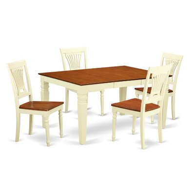 Armadillo 5 Piece Dining Set Finish: Buttermilk
