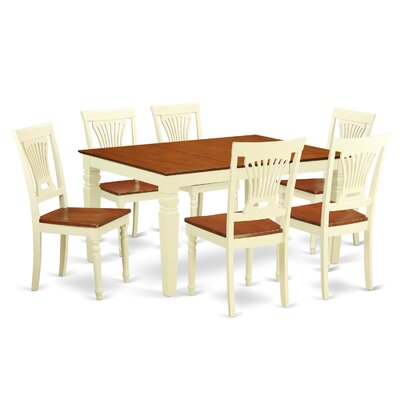 Armentrout 7 Piece Dining Set Finish: White