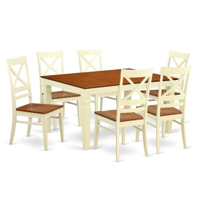 Annapolis 7 Piece Dining Set Finish: Buttermilk & Cherry