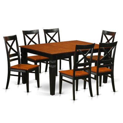 Annapolis 7 Piece Dining Set Finish: Black & Cherry