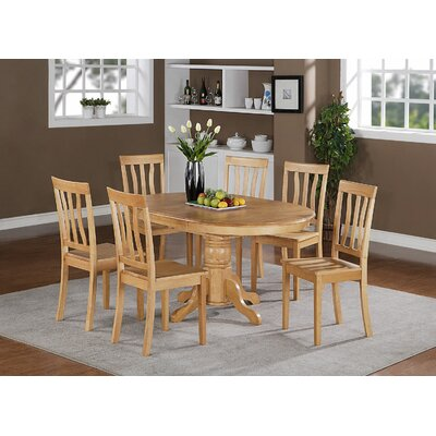 Easton 7 Piece Dining Set Finish: Oak