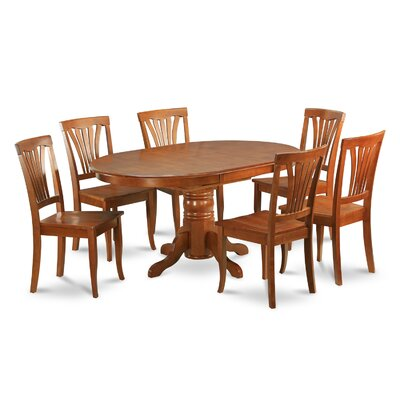 WOIM Avon 5 Piece Dining Set - Finish: Black and Cherry, Upholstery: Wood Seat