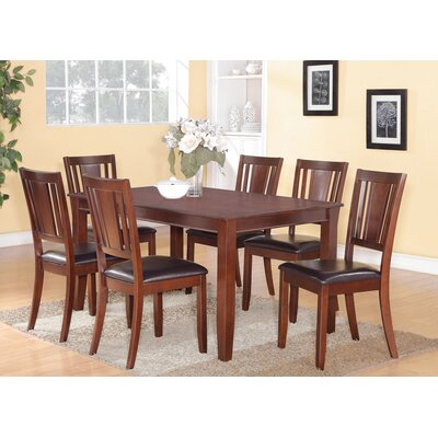 Dudley 7 Piece Dining Set Finish: Mahogany