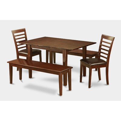 Picasso 5 Piece Dining Set Chair Upholstery: Faux Leather