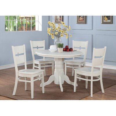 WOIM Shelton 5 Piece Dining Set - Finish: Linen White at Sears.com