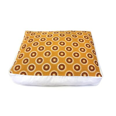 Medallion Circles Dog Bed Size: Medium - 35 L x 35 W