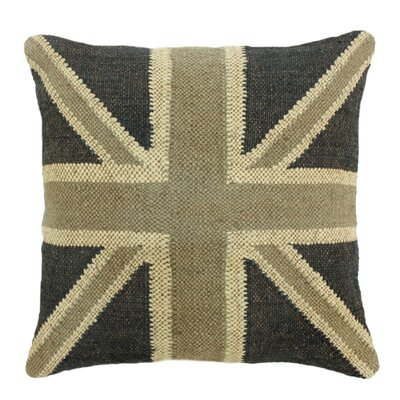 Kilim Throw Pillow Color: Charcoal/Beige