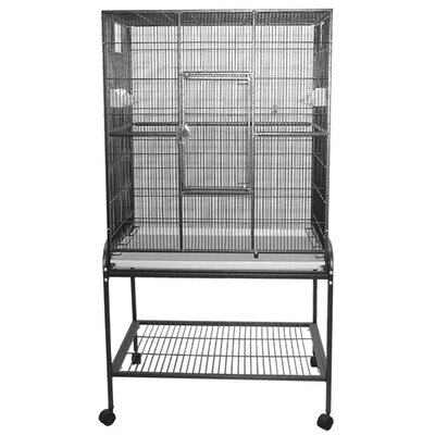 Halpin Bird Cage Color: Black