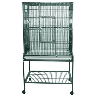 Halpin Bird Cage Color: Green