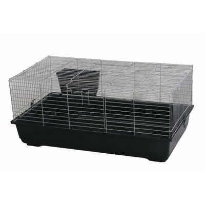 Hinkel Rabbit/Guinea Pig Cage Color: Black, Size: 18 H x 39 W x 22 L