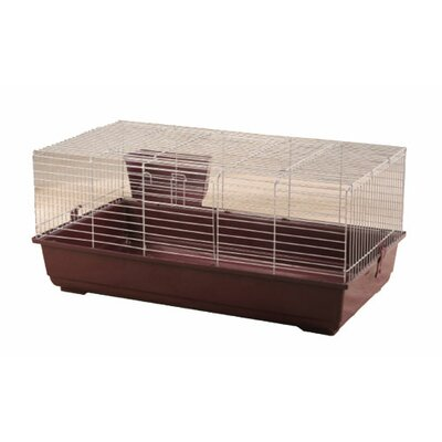 Rabbit/Guinea Pig Cage Color: Red, Size: 18 H x 39 W x 22 L