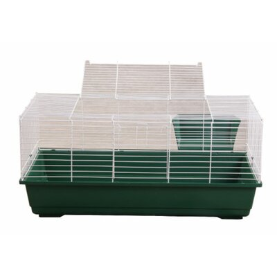 Hinkel Rabbit/Guinea Pig Cage Color: Green, Size: 18 H x 39 W x 22 L