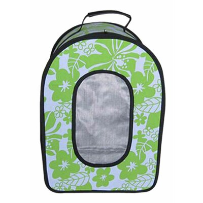 Soft Sided Travel Pet Carrier Size: Large (14 H x 9 W x 19 L), Color: Green