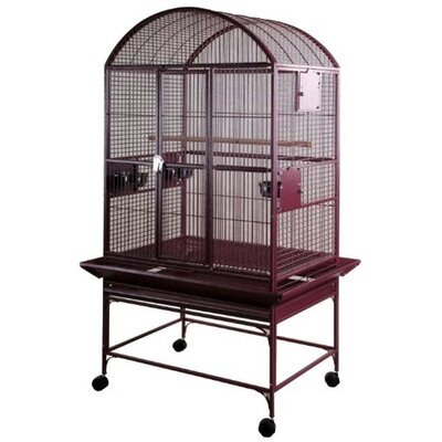 Gunner Large Dome Top Bird Cage Color: Burgundy