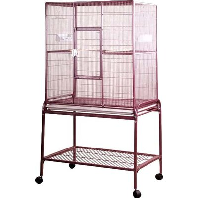 Halpin Bird Cage Color: Burgundy
