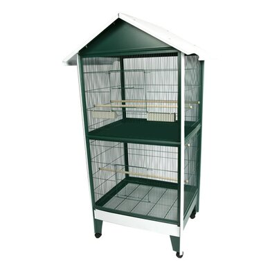 Two Story Pitched Roof Bird Aviary