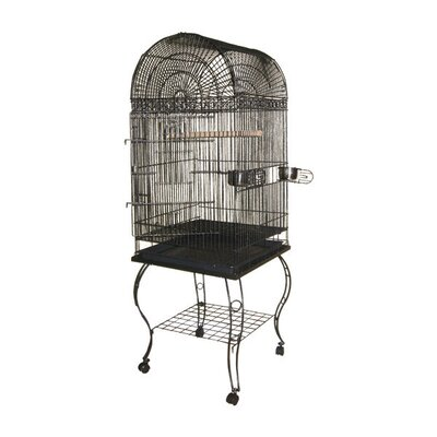 Economy Dome Top Cage Color: Platinum