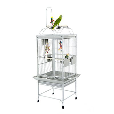 Small Play Top Bird Cage with Toy Hook 8002422SS