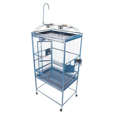Large Play Top Bird Cage Color: Blue