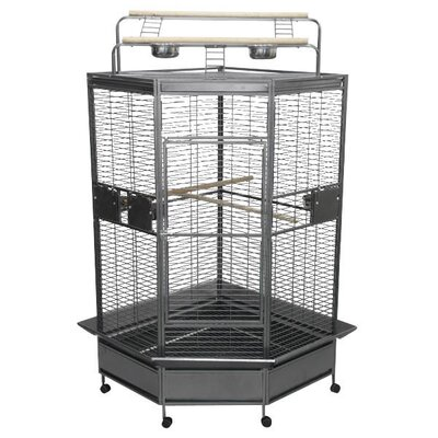 Large Bird Cage Color: Black