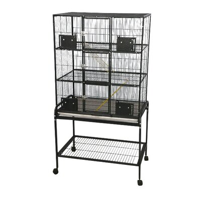3 Level Small Animal Cage with Removable Base Color: Platinum