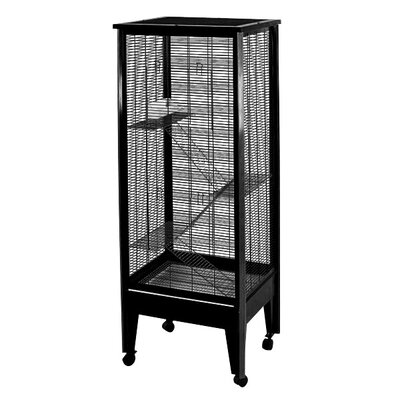 Medium 4-Level Small Animal Cage Color: Black with Platinum