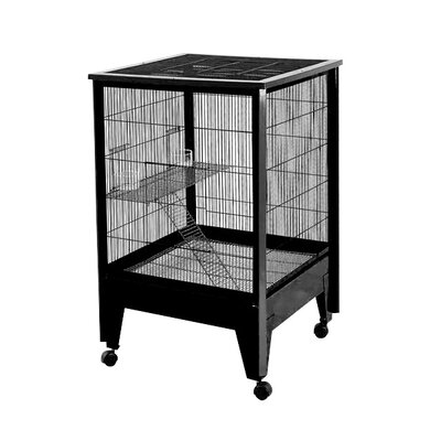 Medium 2-Level Small Animal Cage Color: Black