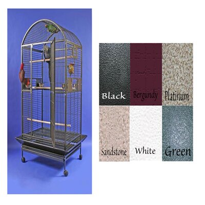 Giant Dome Top Bird Cage Color: Black