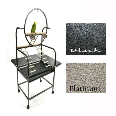 The �O Parrot Play Stand Color: Black
