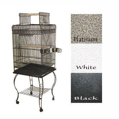 Economy Play Top Cage Color: Platinum