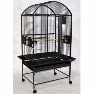 Large Dome Top Bird Cage Color: Black