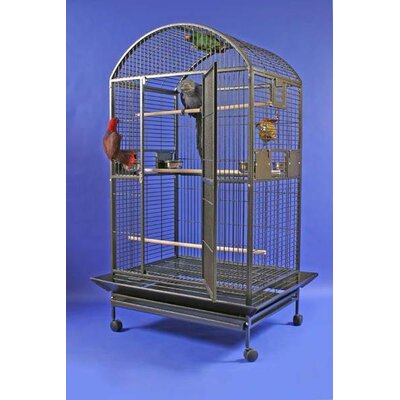 Enormous Dome Top Bird Cage Color: Black