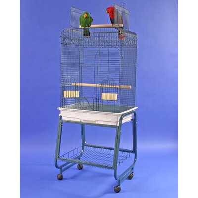 Play Top Bird Cage with Plastic Base Color: Platinum