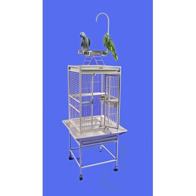 Small Play Top Bird Cage Color: Stainless Steel