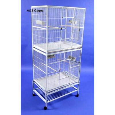 Mazzeo Double Flight Bird Cage Color: Black