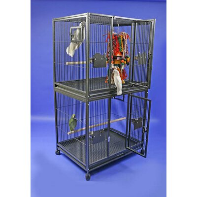 Large Double Bird Cage Color: Platinum